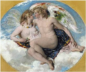Eros and Psyche Meeting In Heaven