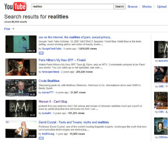 Realities Search Results